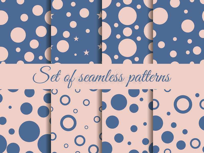 Nahtloses Muster mit Kreisen Muster mit Kreisen und Punkten flecke lizenzfreie abbildung
