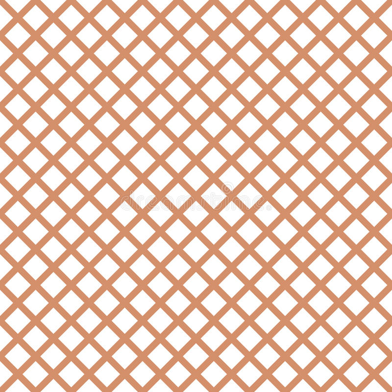 Nahtloses Muster mit modischem stilvollem Zellgingham in den Kaffeefarben stock abbildung