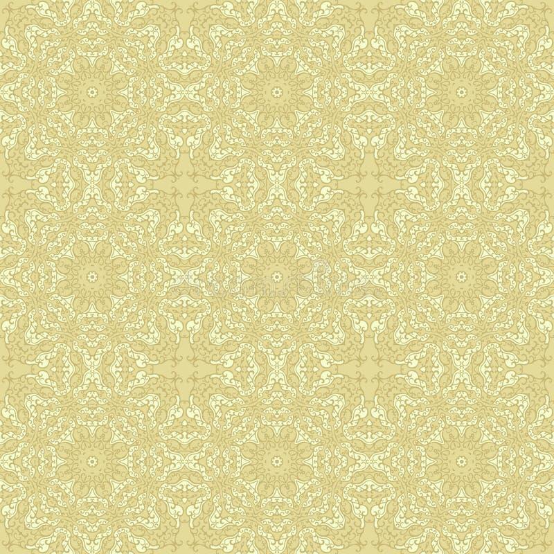 Nahtloses Muster mit Mosaikspitzeverzierung stock abbildung