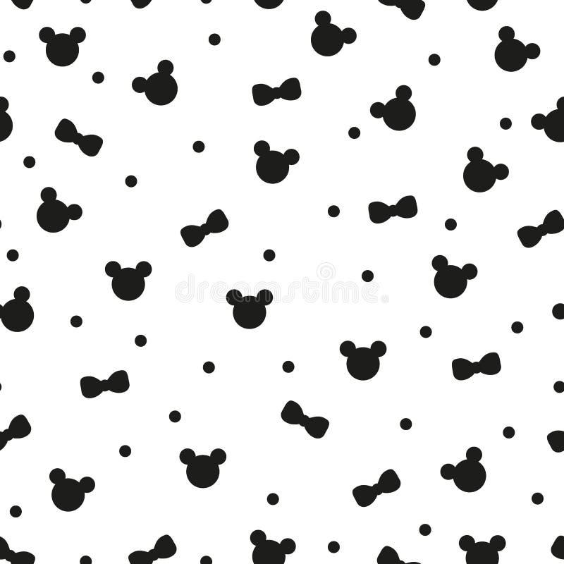 Nahtloses Muster mit nette Handgezogenem Pandabärnkopf und lächelnden den Gesichtern, verziert mit Schal und Bogen in rosa, weiß  vektor abbildung
