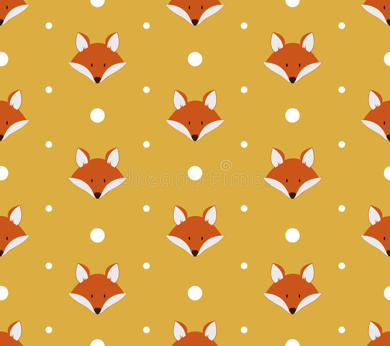 Nahtloses Muster mit netten Füchsen stock abbildung