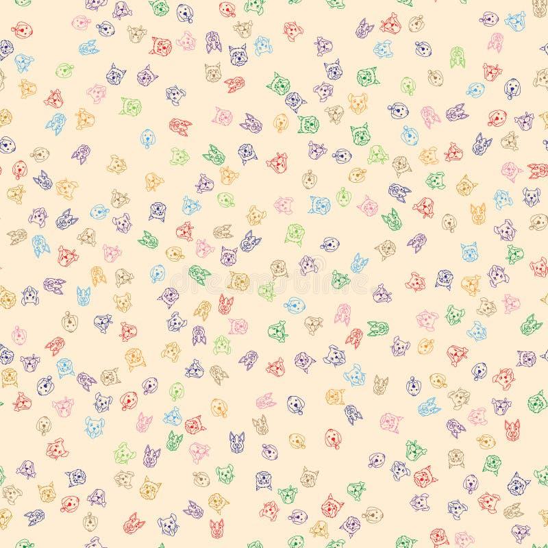Nahtloses Muster mit netten Hunden vektor abbildung