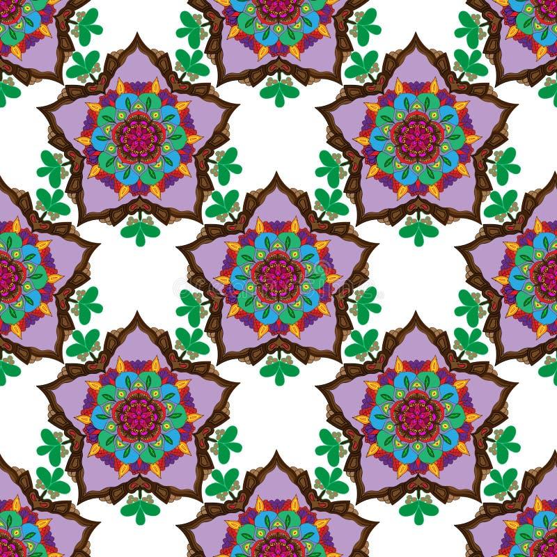 Nahtloses Muster mit orientalischen Motiven vektor abbildung