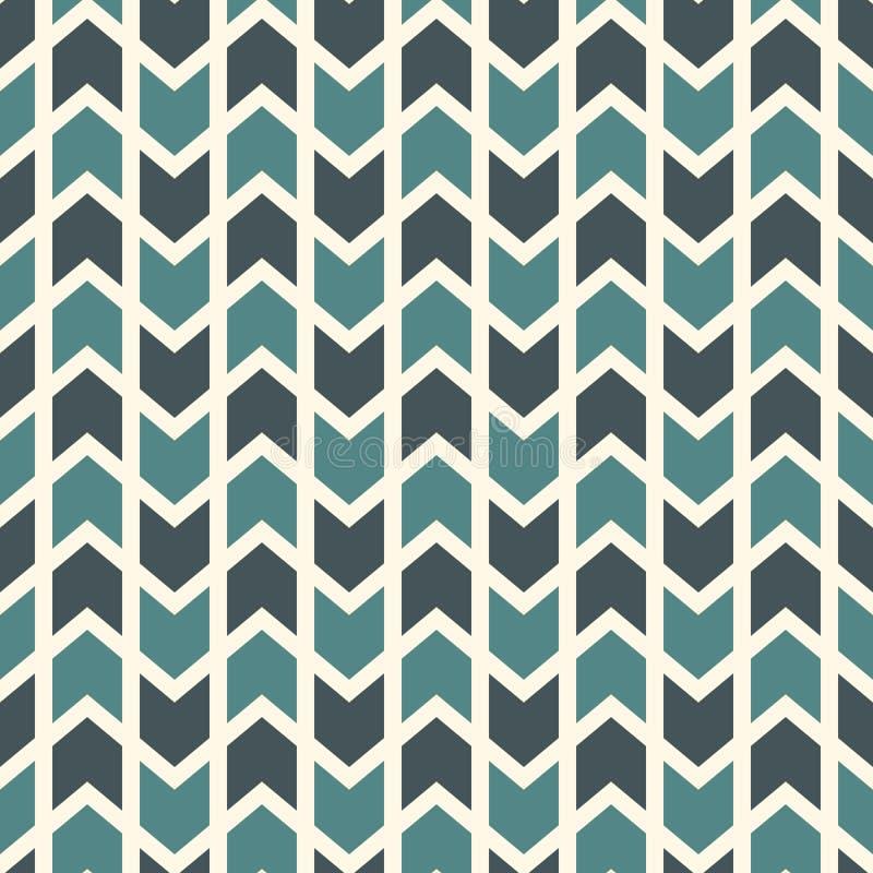 Nahtloses Muster mit Pfeilmotiv Wiederholte Minispitze klammern Sparrentapete Unbedeutender abstrakter Hintergrund lizenzfreie abbildung