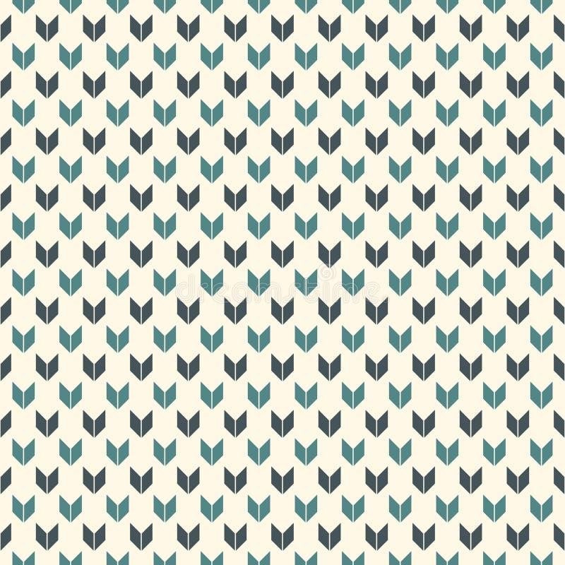 Nahtloses Muster mit Pfeilmotiv Wiederholte Minispitze klammern Sparrentapete Unbedeutender abstrakter Hintergrund stock abbildung