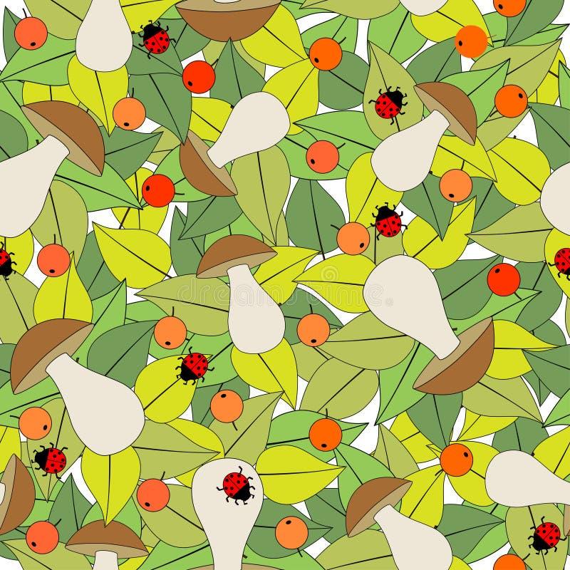 Nahtloses Muster mit Pilzen stock abbildung