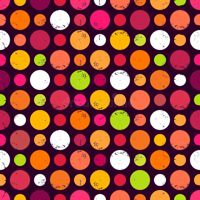 Nahtloses Muster mit Punkten. lizenzfreie abbildung