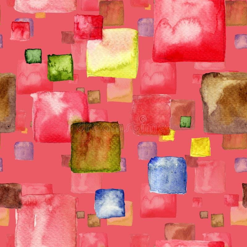 Nahtloses Muster mit Quadrat lizenzfreie stockfotografie