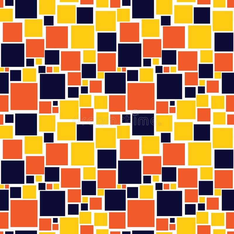 Nahtloses Muster mit Quadraten lizenzfreie abbildung