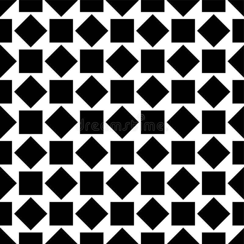 Nahtloses Muster mit Quadraten Geometrisches einfaches Bild stock abbildung