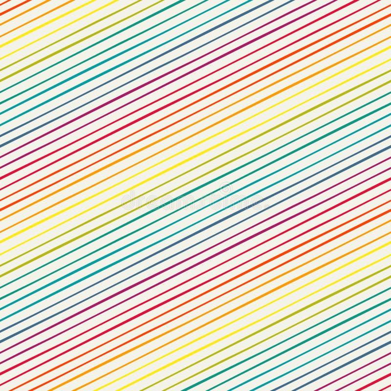 Nahtloses Muster mit Regenbogenschrägstreifen lizenzfreie abbildung