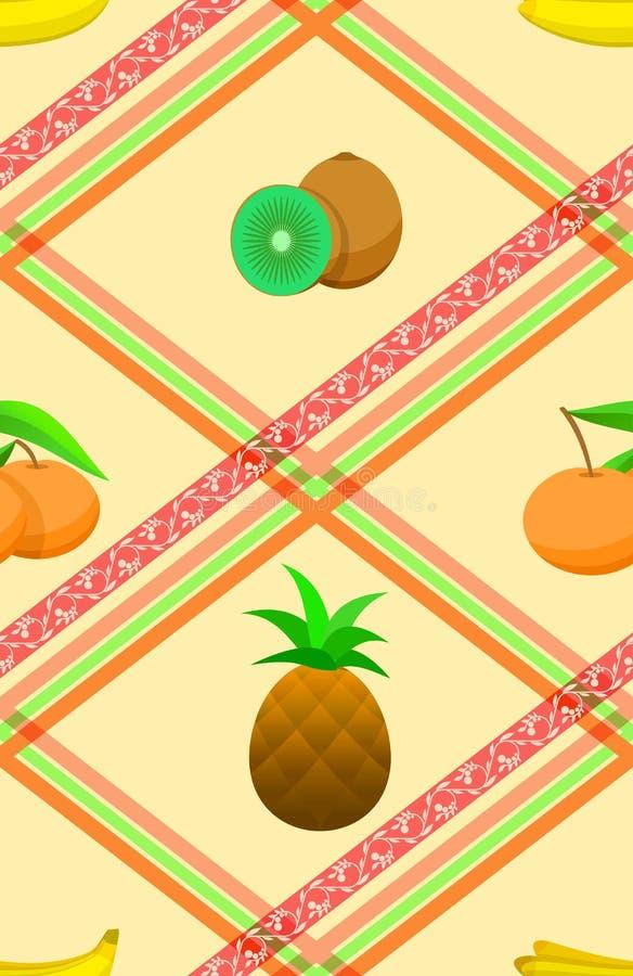 Nahtloses Muster mit reifen tropischen Früchten. vektor abbildung