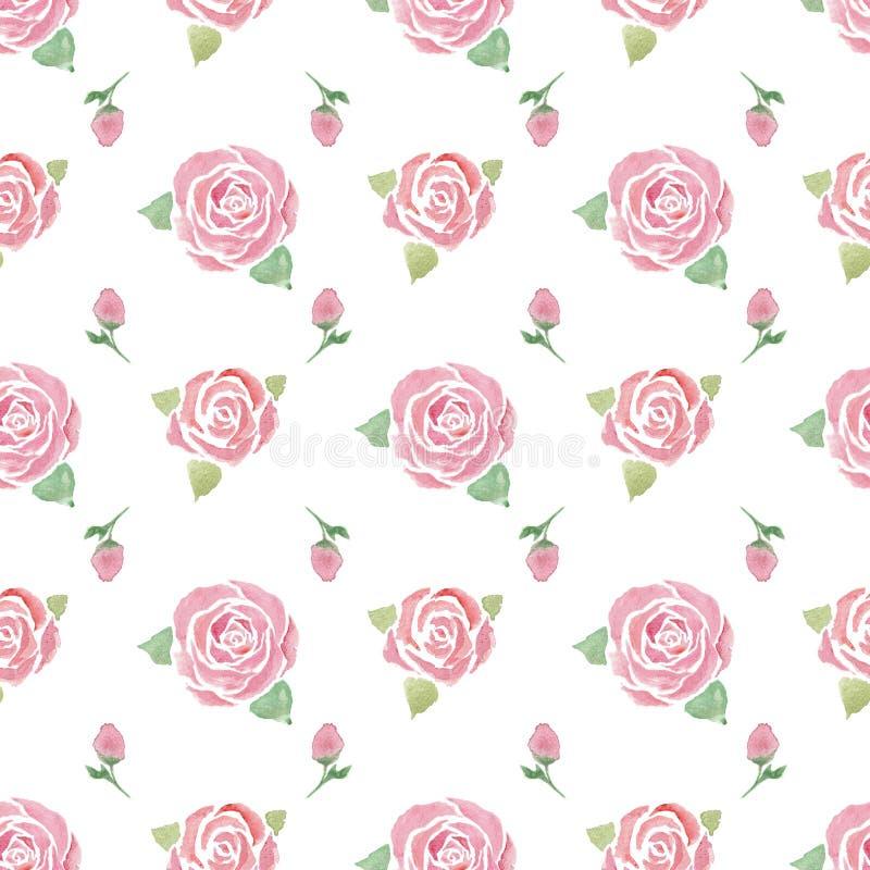 Nahtloses Muster mit Rosen lizenzfreie abbildung