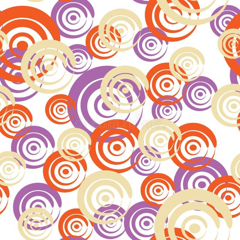 Nahtloses Muster mit Rotationen lizenzfreie abbildung