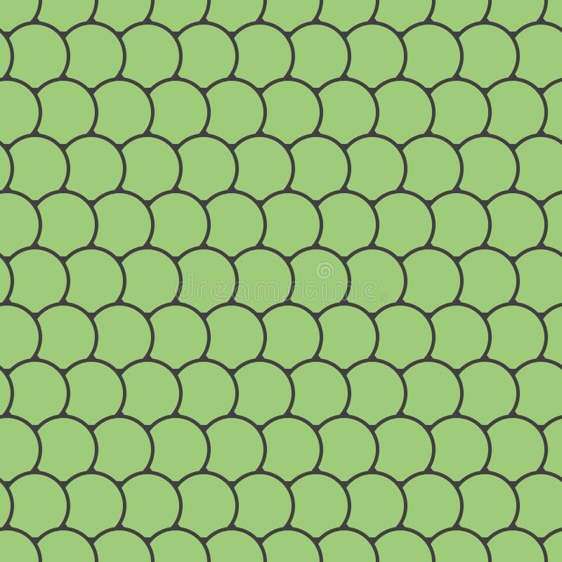 Nahtloses Muster mit runden Fliesen vektor abbildung
