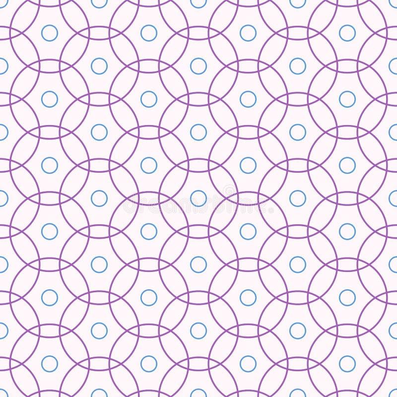 Nahtloses Muster mit schneidenen Kreisen vektor abbildung