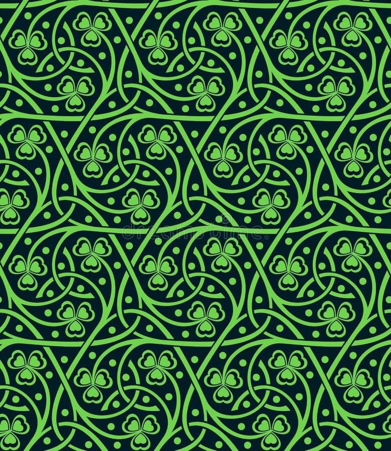 Nahtloses Muster mit Shamrock vektor abbildung