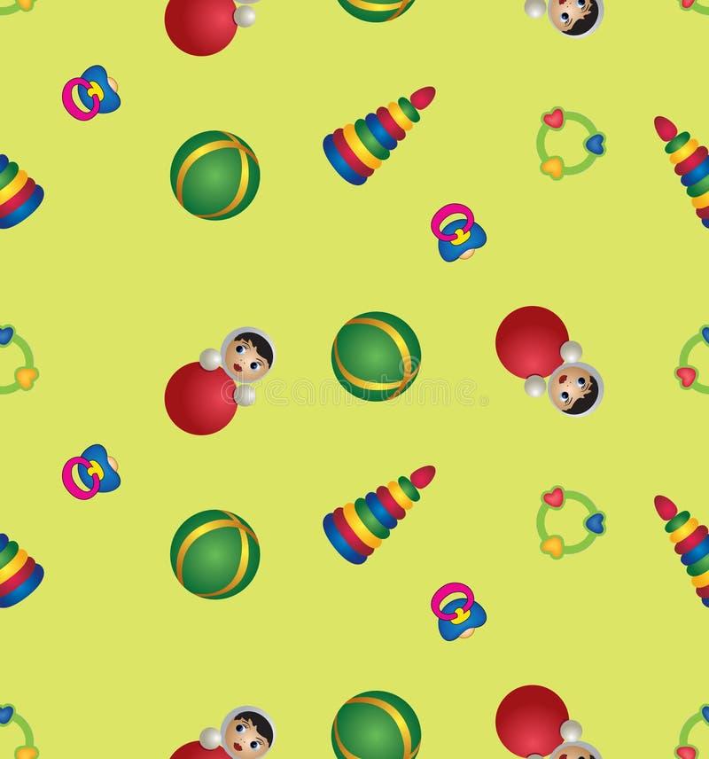 Nahtloses Muster mit Spielwaren der Kinder vektor abbildung