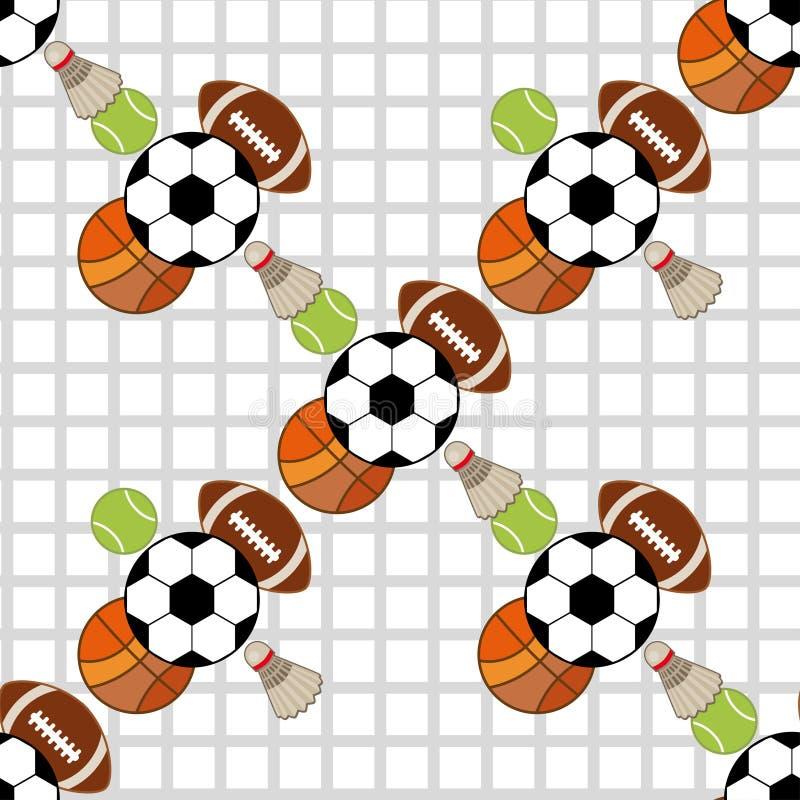 Nahtloses Muster mit Sportikonen lizenzfreie stockbilder
