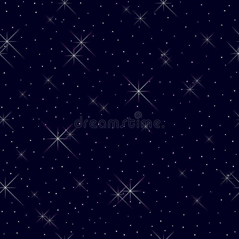 Nahtloses Muster mit Sternen. stock abbildung
