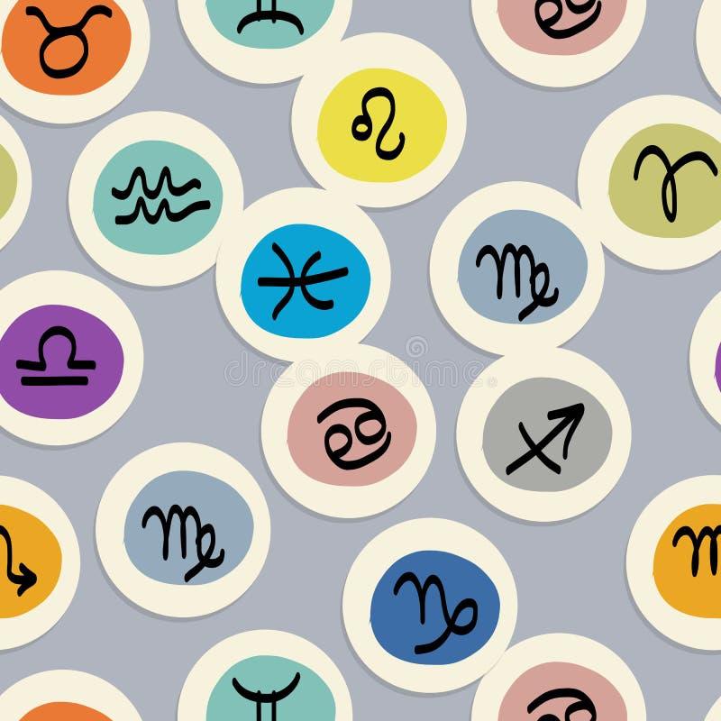 Nahtloses Muster mit Sternzeichen für Ihr Design stock abbildung