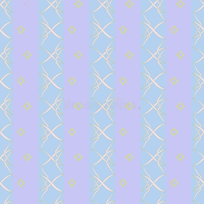 Nahtloses Muster mit Streifen und abstrakten Formen stockfotos