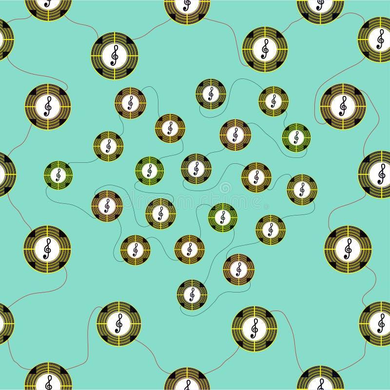 Nahtloses Muster mit Symbolen von verschiedenen Farben lizenzfreie abbildung