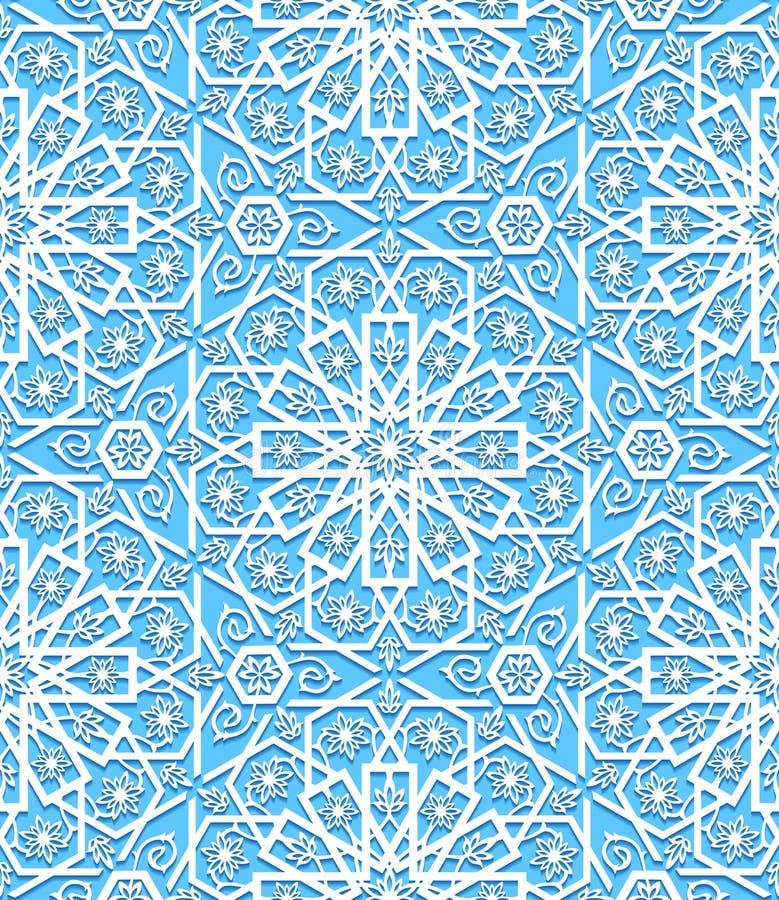 Nahtloses Muster mit traditioneller Verzierung stock abbildung