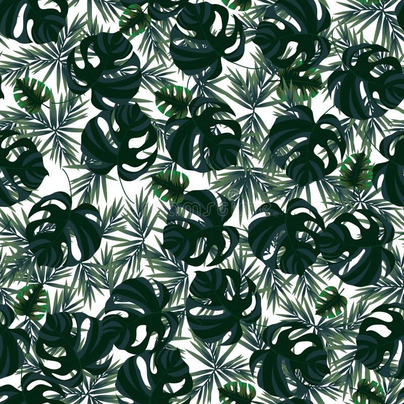 Nahtloses Muster mit tropischen Bl?ttern vektor abbildung