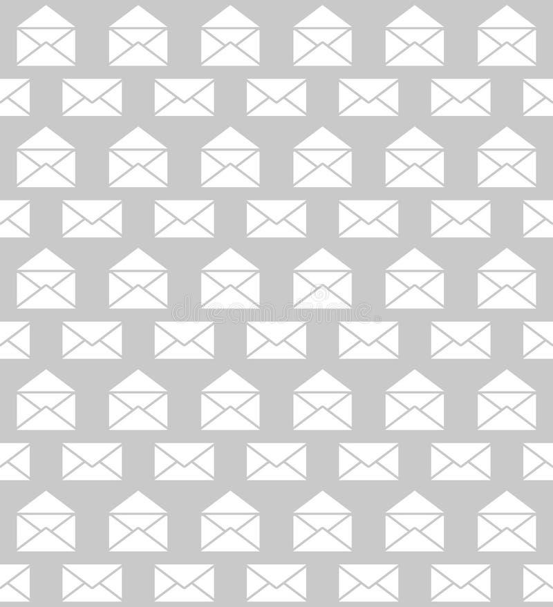Nahtloses Muster mit Umschlägen Postzustellung vektor abbildung