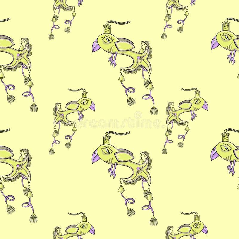 Nahtloses Muster mit Vögeln vektor abbildung