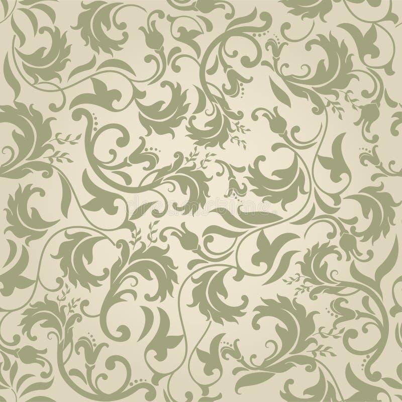 Nahtloses Muster mit viktorianischen Motiven vektor abbildung