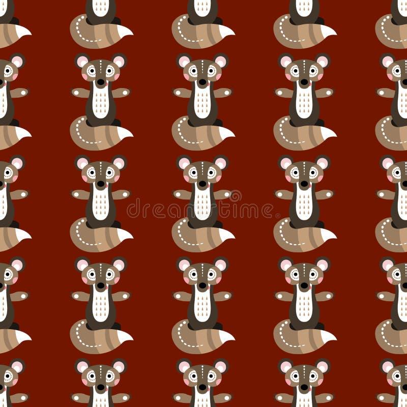 Nahtloses Muster mit Waldeichhörnchen Vektorillustration für lizenzfreie abbildung