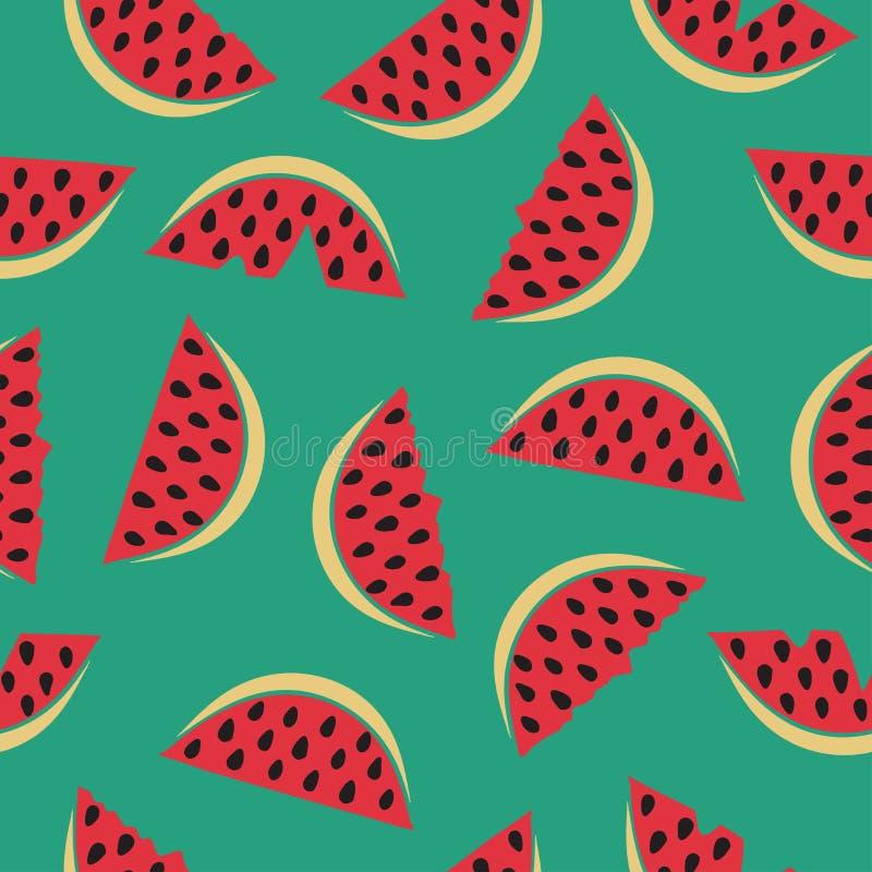 Nahtloses Muster mit Wassermelone stock abbildung