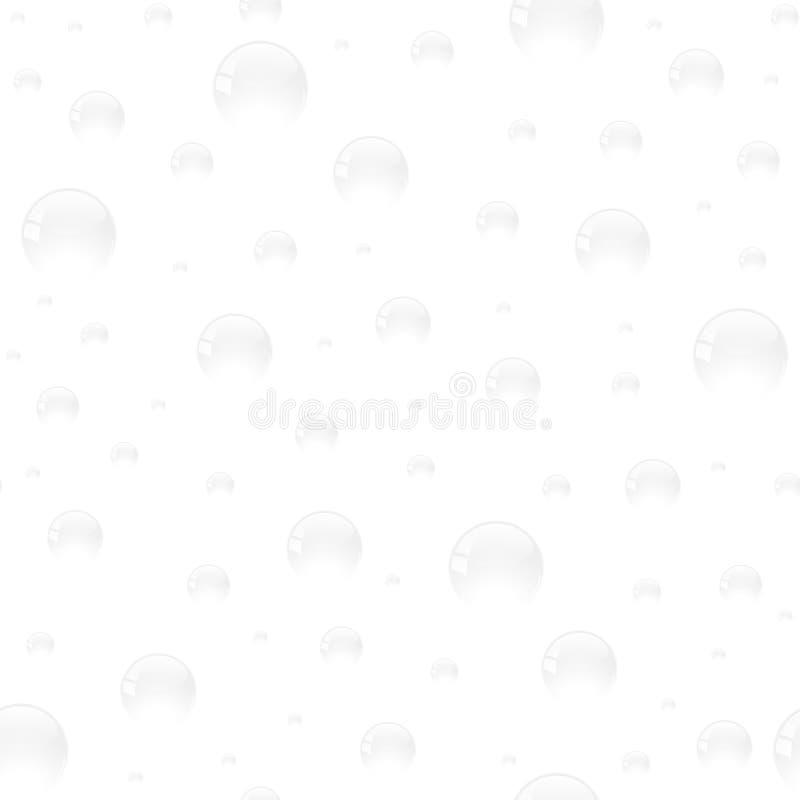 Nahtloses Muster mit weißen Blasen auf weißem Hintergrund stockfoto