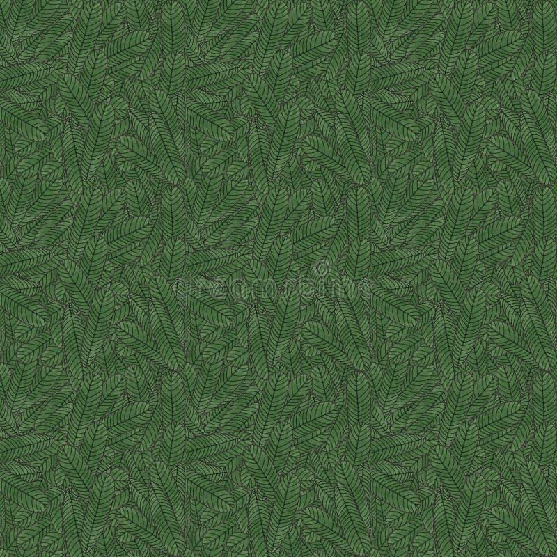 Nahtloses Muster mit Weihnachtsbaum stockbild