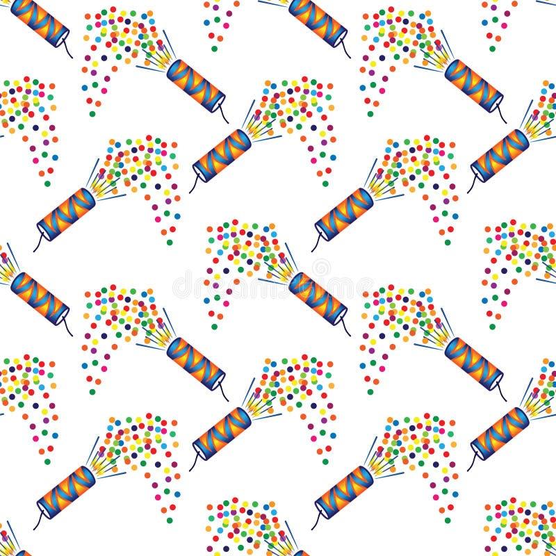 Nahtloses Muster mit Weihnachtscrackern lizenzfreie abbildung