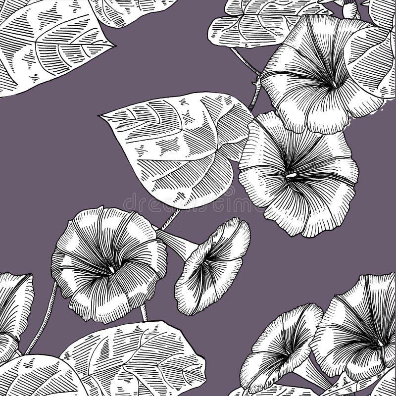 Nahtloses Muster mit Winde Hand gezeichnet graphiken lizenzfreie abbildung