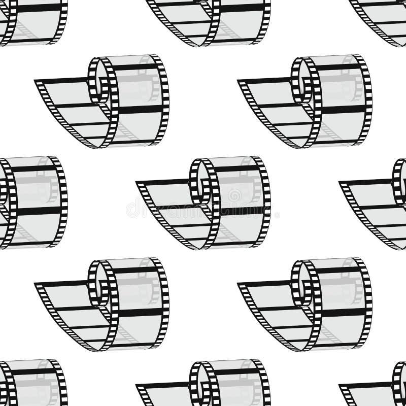 Nahtloses Muster 35mm Filmrolle Realistisches Bild 3D stock abbildung