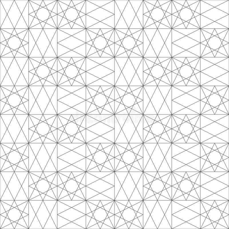 Nahtloses Muster Moderne elegante Beschaffenheit Lineare Verzierung mit geometrischen Formen regelmäßig wiederholen, Rauten, Diam stock abbildung