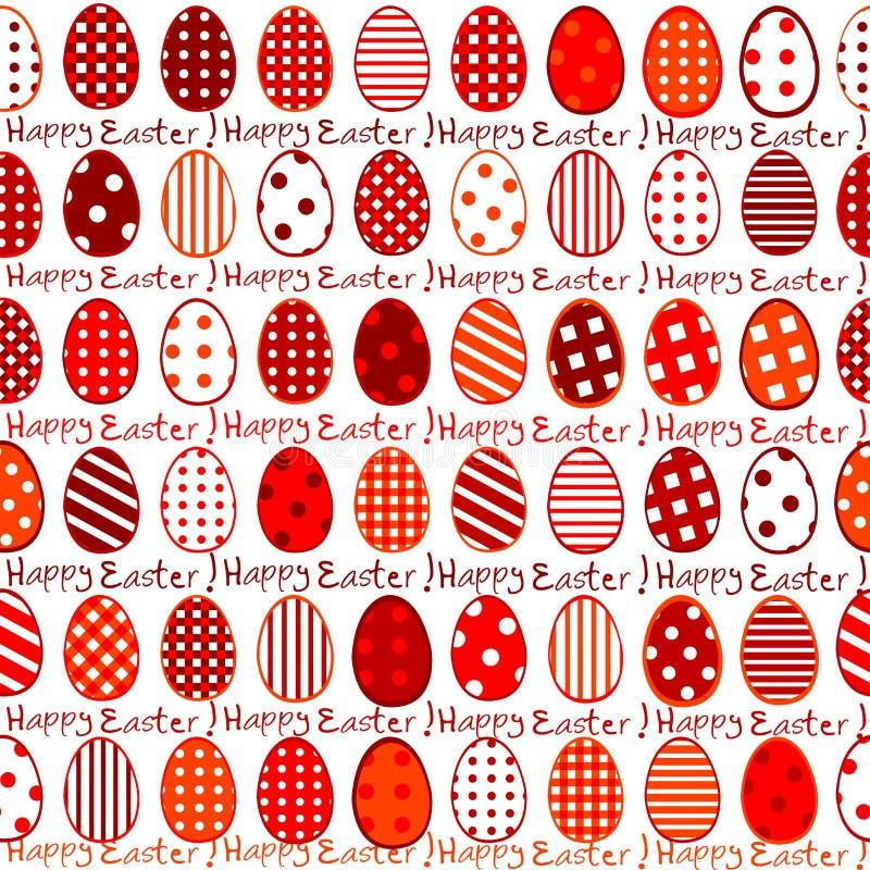 Nahtloses Muster Ostern-Packpapiers stock abbildung