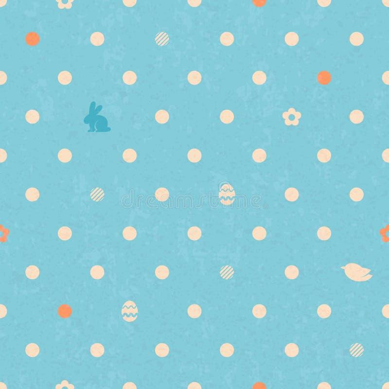 Nahtloses Muster Ostern-Tupfens im Blau stock abbildung