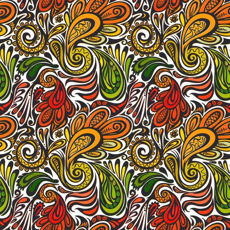 Nahtloses Muster Paisleys stock abbildung