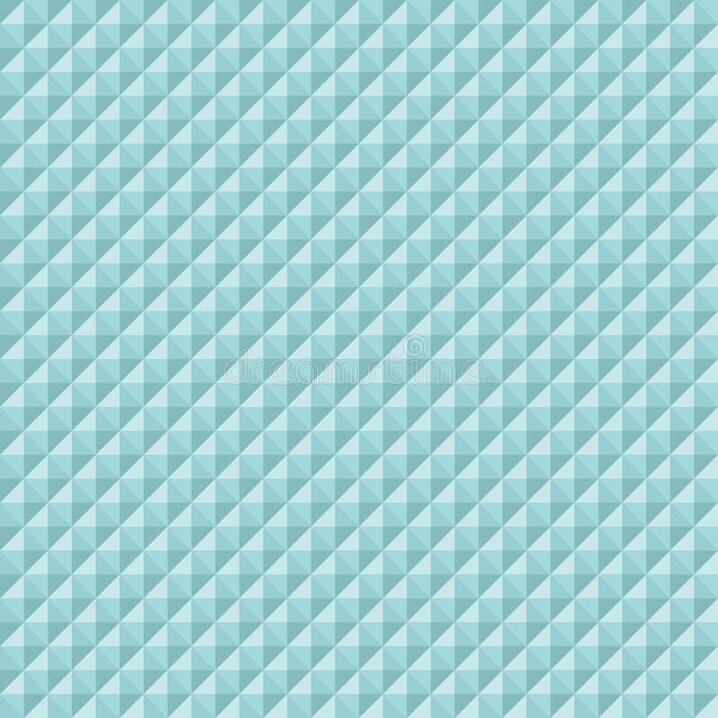Nahtloses Muster-quadratischer Diamant-Pyramiden-Türkis stock abbildung