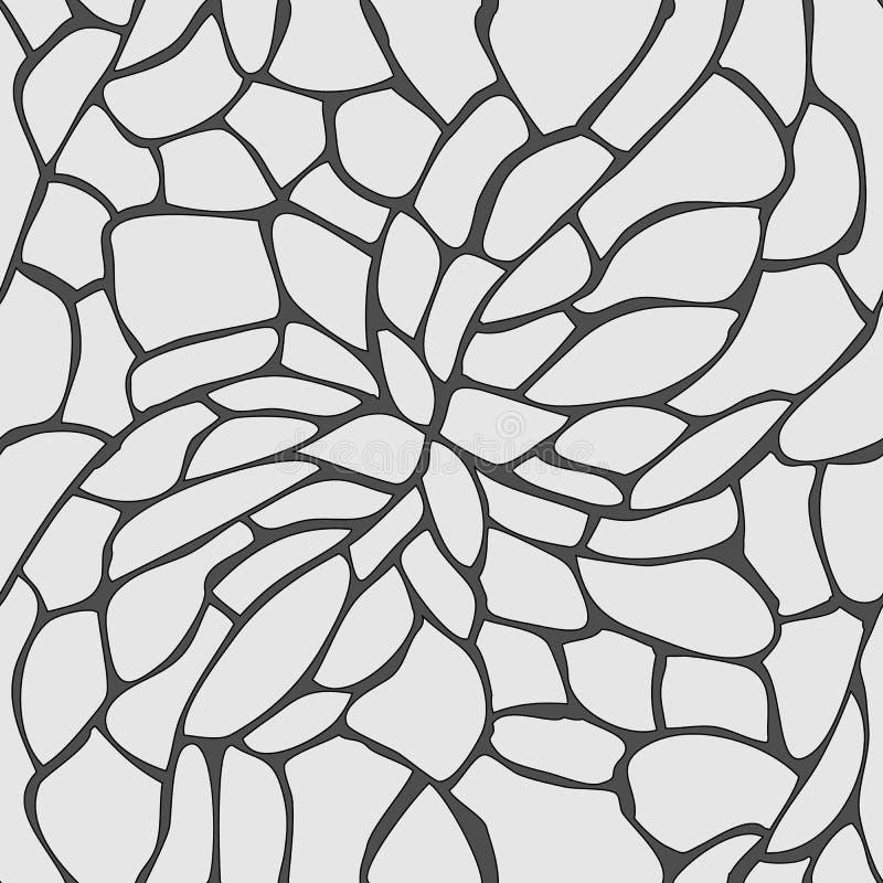 Nahtloses Muster schärfen Steinbodenhintergrund-Vektorillustration lizenzfreie abbildung