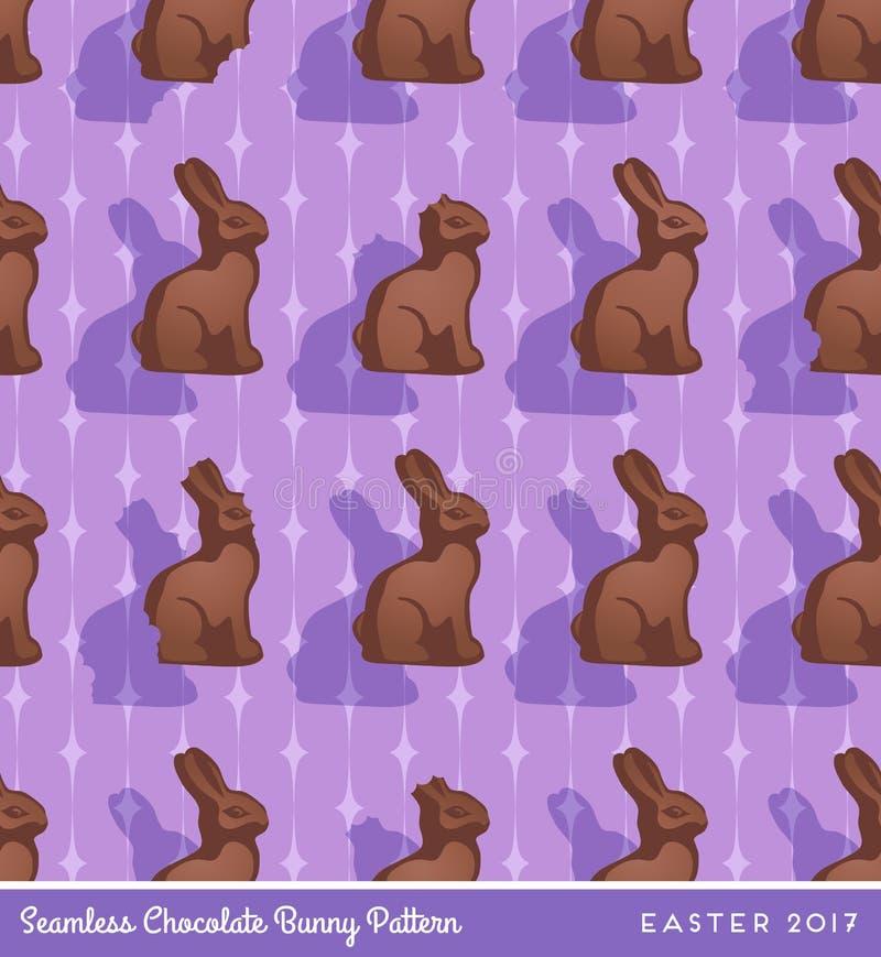 Nahtloses Muster SchokoladenOsterhasen vektor abbildung