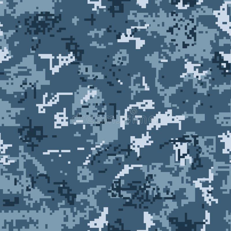 Nahtloses Muster städtischer Tarnung Digital stock abbildung