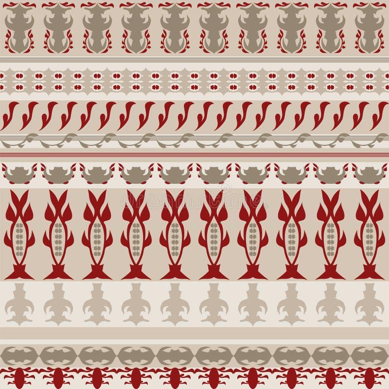 Nahtloses Muster streift Hintergrund mit roten Kontrasten lizenzfreie abbildung
