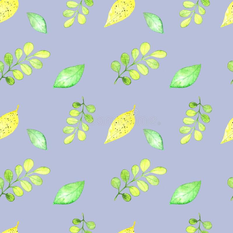 Nahtloses Muster, tropische frash Blätter vektor abbildung