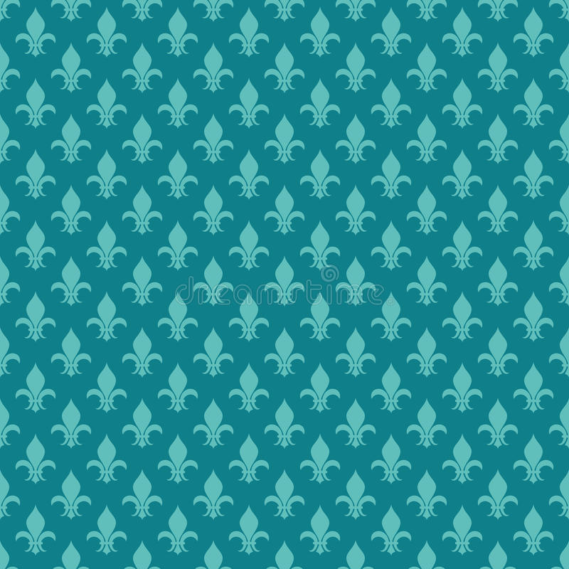 Nahtloses Muster Vektors Knickentenfleur de Lis lizenzfreie abbildung